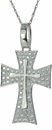 Glorius Pave Set Round Cubic Zirconia Cross Pendant