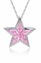Superstar Pink Custom Kite Cut Cubic Zirconia Pendant