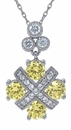 Canary Imperial .50 Carat Round Cubic Zirconia Pave Pendant