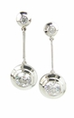 Pendullum Bezel Set Cubic Zirconia Round Drop Earrings