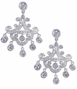 Moroccan Nights Cubic Zirconia Pave Chandelier Bezel Earrings
