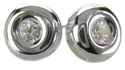 Taylor Bezel Set .50 Carat Cubic Zirconia Round Stud Earrings
