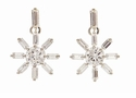 Del Sol .50 Carat Cubic Zirconia Round Baguette Drop Earrings
