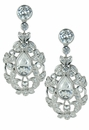 Vanya 2 Carat Pear Cubic Zirconia Floral Drop Earrings