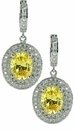 Meline 2.5 Carat Cubic Zirconia Oval Double Halo Pave Drop Earrings