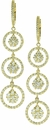 Veronika Cubic Zirconia Pave Set Round Triple Circle Drop Earrings