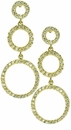 Harmony Cubic Zirconia Pave Set Round Triple Circle Drop Earrings