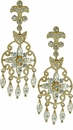 Cristalla Cubic Zirconia Marquise Chandelier Drop Earrings
