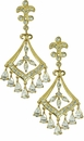Pervolia Cubic Zirconia Marquise Pear Chandelier Style Drop Earrings