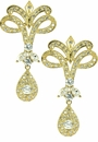 Karisma Cubic Zirconia Marquise Round Drop Earrings