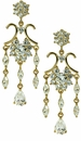 Jonquil Cubic Zirconia Pear Marquise Round Chandelier Style Drop Earrings
