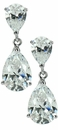 Pear De Pear Cubic Zirconia 2 Carat Drop Earrings