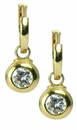 Festina .75 Carat Cubic Zirconia Bezel Set Round Drop Earrings
