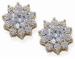 Round Cubic Zirconia Cluster Earrings