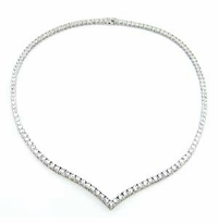 Vinetta .25 Carat Each Round Cubic Zirconia Tennis Necklace