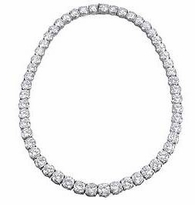 Classic .25 Carat Each Round Cubic Zirconia Tennis Necklace