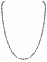 Bezel Set Round Cubic Zirconia Tennis Necklace