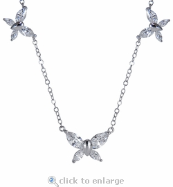 Butterfly Marquise Cubic Zirconia Necklace