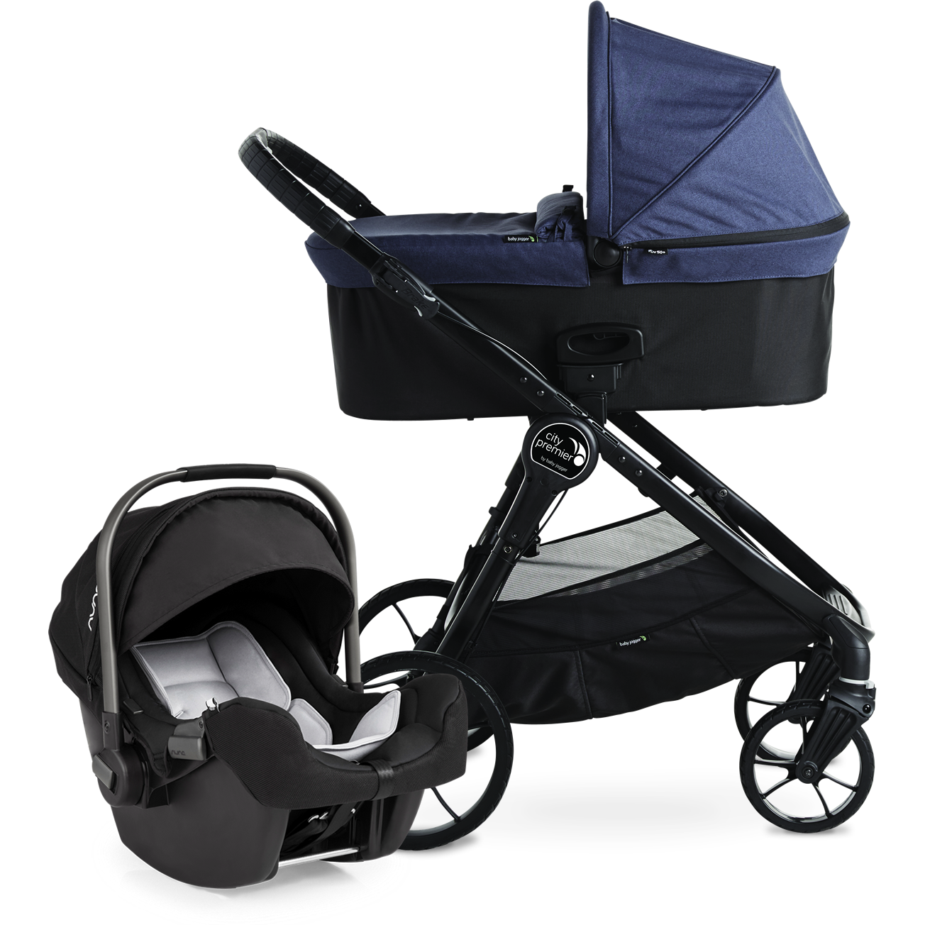 baby jogger city premier stroller indigo. Black Bedroom Furniture Sets. Home Design Ideas