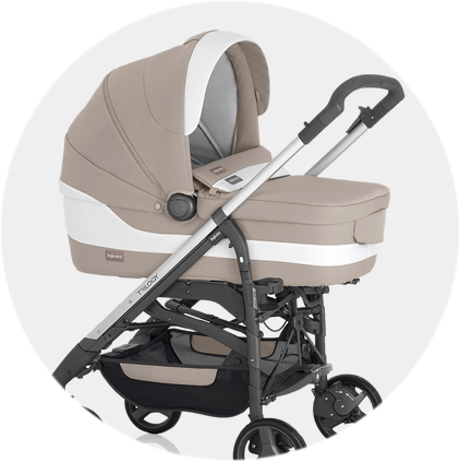 Use from birth with a Trilogy bassinet or compatible car seat (adapters sold separately)