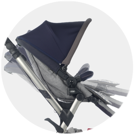 Backrest can be adjusted to 3 recline positions