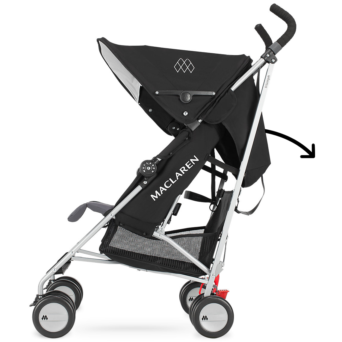 maclaren 2016 2017 triumph stroller black charcoal. Black Bedroom Furniture Sets. Home Design Ideas