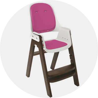 Oxo Tot Sprout High Chair Pink Walnut
