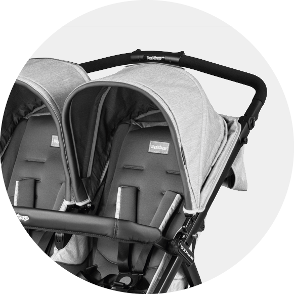 Peg Perego Book For Two Double Stroller Onyx