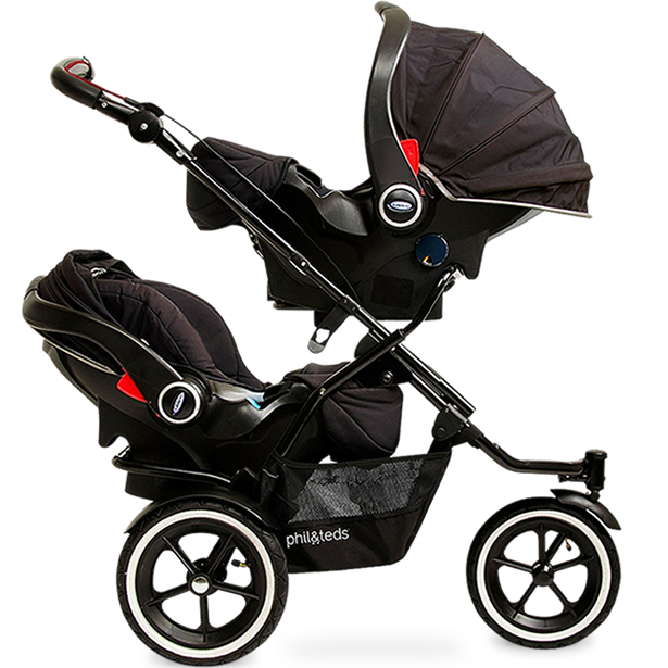 Phil Teds Sport Double Stroller Graphite