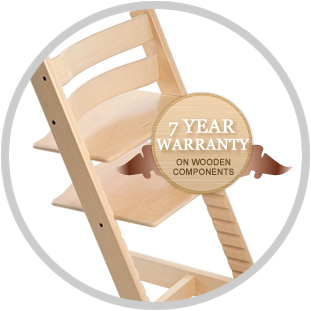 7-year warranty on wooden components