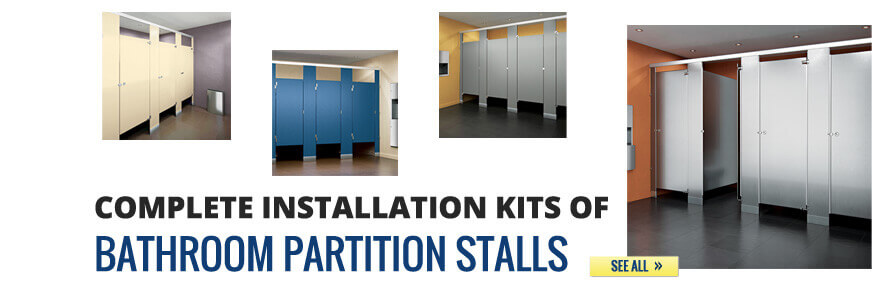 Complete Installation Kits of Bathroom Partition Stalls