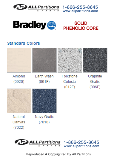 Phenolic Bathroom Partition Color Charts Accurate Global Hadrian