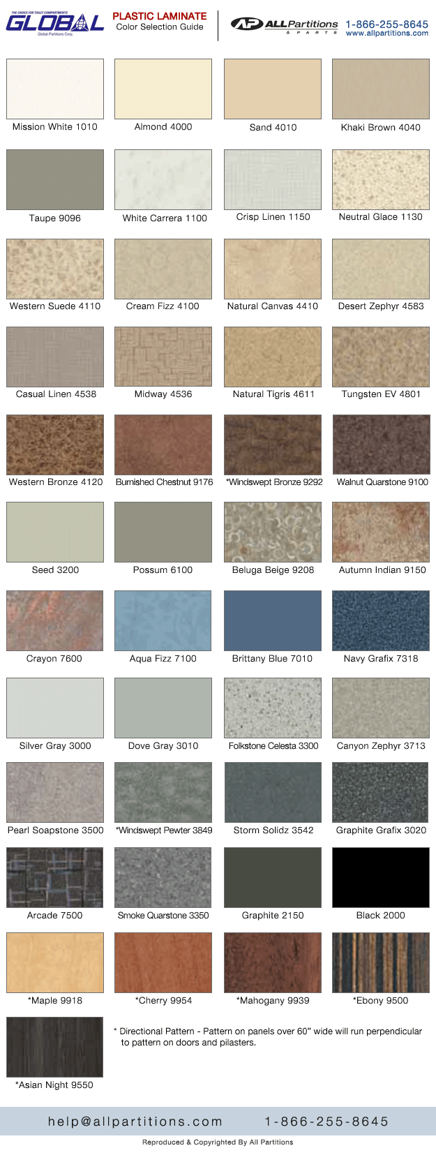 Allpartitionsandparts global plastic laminate colors nvjuhfo Gallery