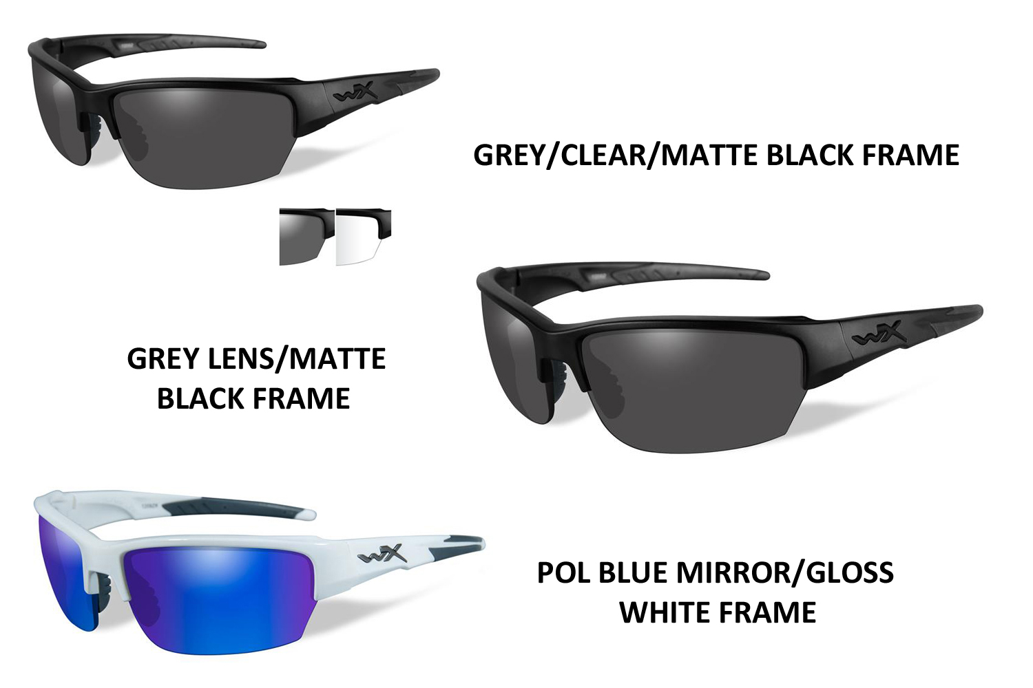 5417c9acfe Wiley X Saint Multi-colored Lens and Frame Sunglasses are the Rx ...