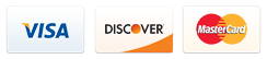 Payment Options: Visa, Discover, MasterCard