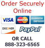 Order Securely Online with major credit cards or PayPal