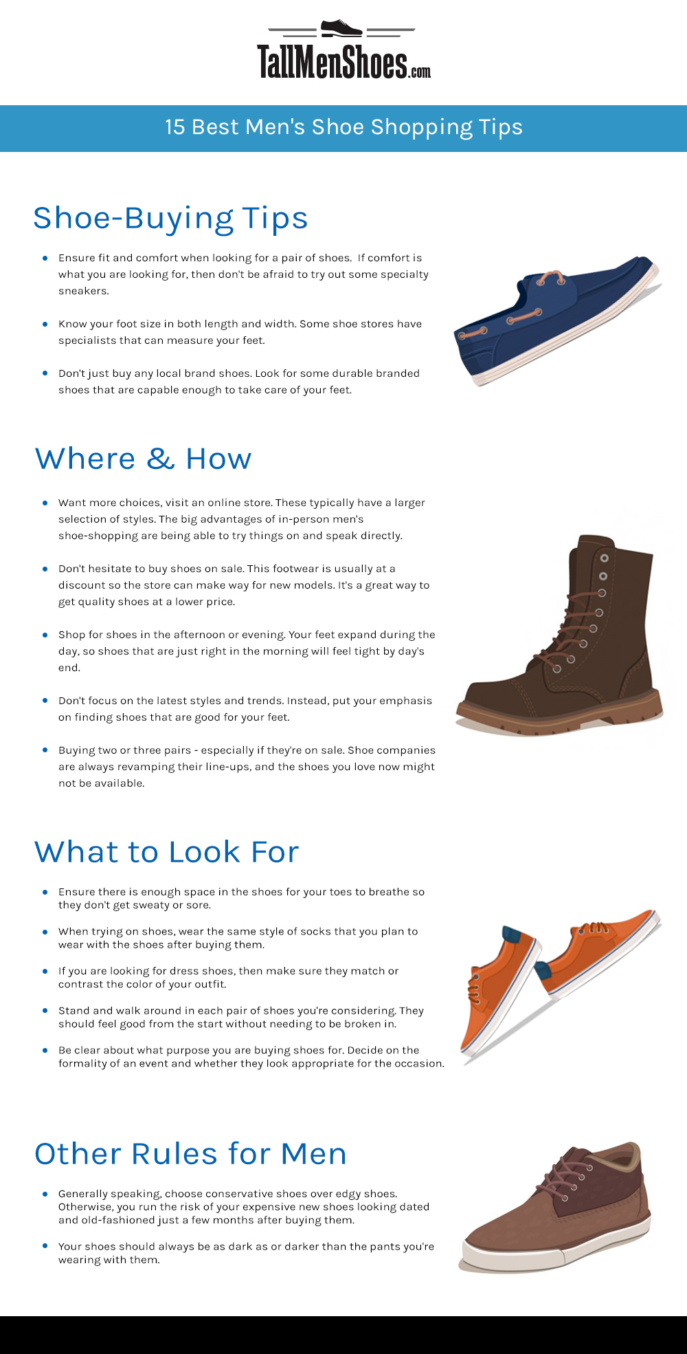 Shopping Tips for Buying Men's Shoes