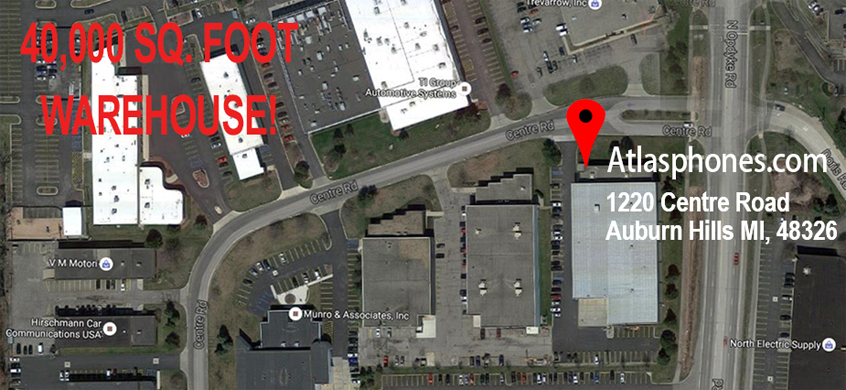 atlasphones.com warehouse location map