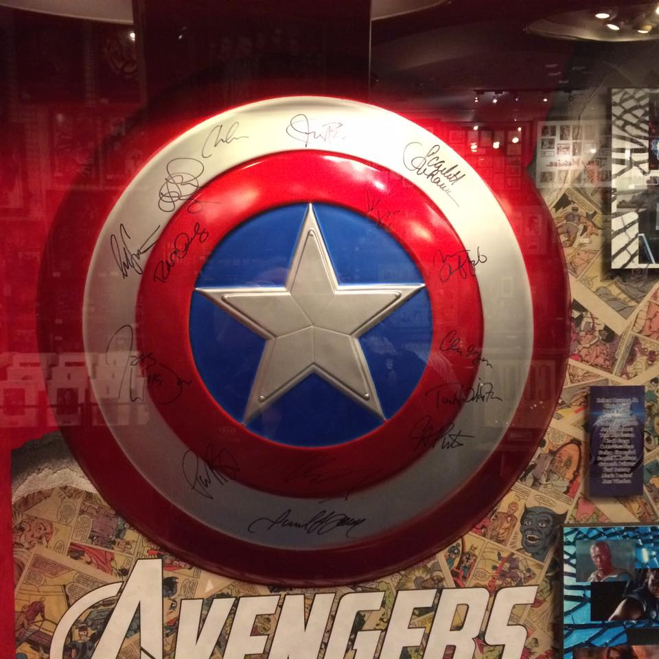 Fake Autographed Captain America Shield