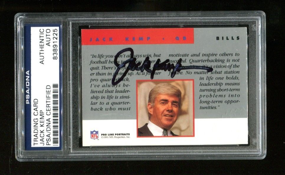 Jack Kemp Autopenned Card Slabbed by PSA/DNA