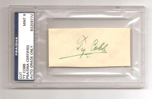 Ty Cobb Laser Reproduction Authenticated by PSA/DNA