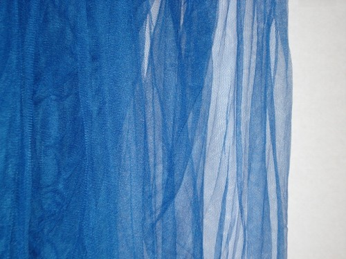 COBALT BLUE & Nicamaka® Casablanca Four Point Bed Canopy Mosquito Net in ...