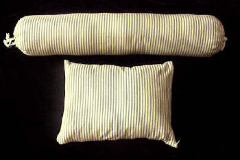 Pillow/Boster Set - Blue/Yellow Pinstripes