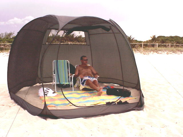 Frikon DeluxeHexagonal Pop-Up Screen Room A quick way to minimize sun damage and increase beach enjoyment. & BuyHammocks.Com u2022 Indoor/Outdoor Mosquito Protection For Home ...
