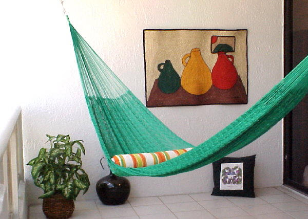 Bright Green Mayan Hammock