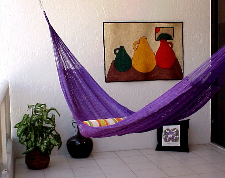 Bright Purple Mayan Hammock