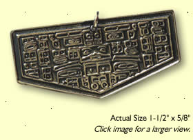 Sterling Silver Aztec-Mantaz Weight Loss Amulet