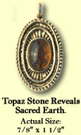 Topaz stone reveals sacred earth