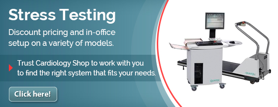 Stress Testing - Discount pricing and in-office setup on a variety of models. Trust Cardiology Shop to work with you to find the right system that fits your needs.