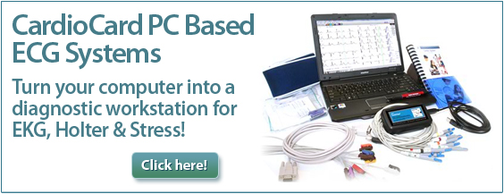 CardioCard PC Based ECG System. Turn your computer into a diagnostic workstation for EKG, Holter & Stress!